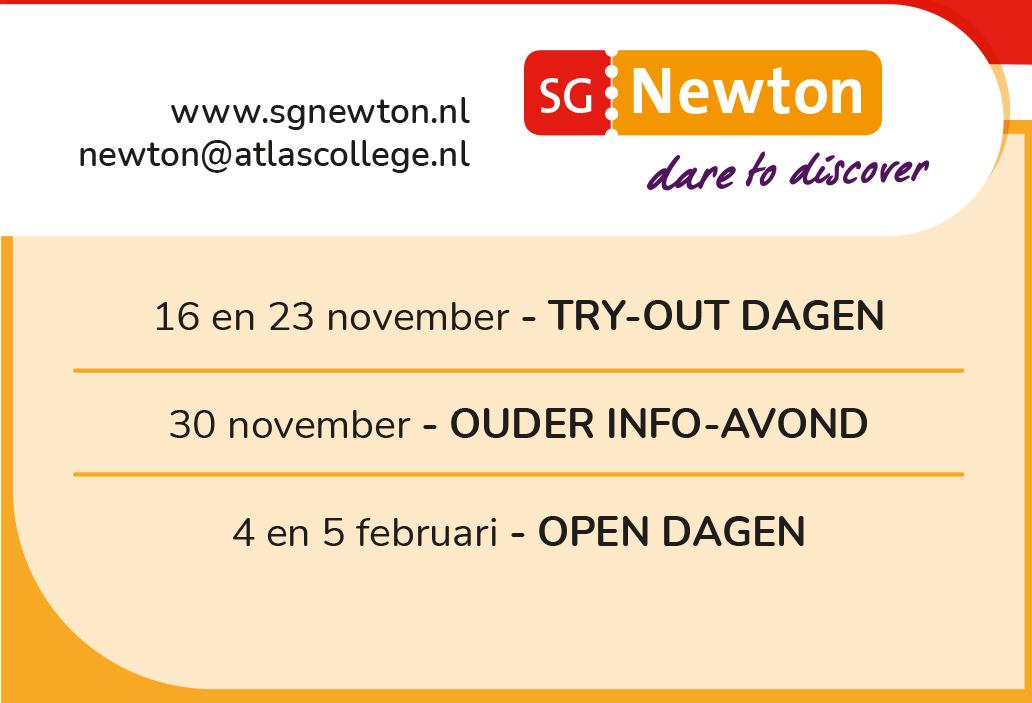 """Featured image for """"Zet in de agenda: kennismaken met SG Newton"""""""
